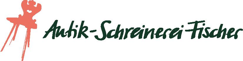 Antik-Schreinerei Fischer Logo. Antiker Stuhl